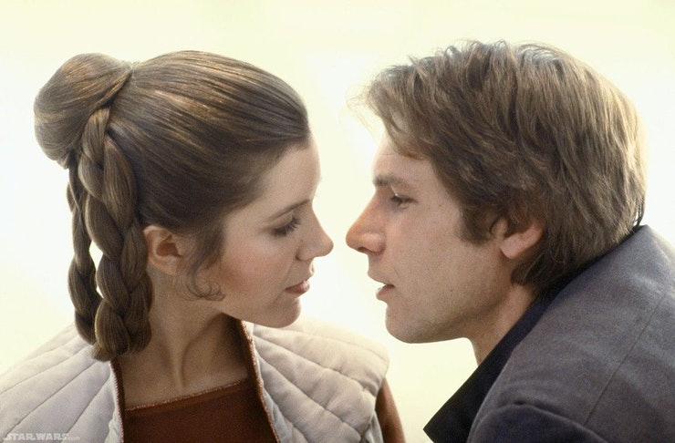 Image result for the force awakens han and leia