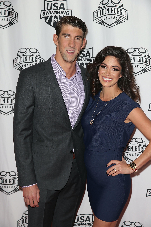 Image: Michael Phelps and  Nicole Johnson