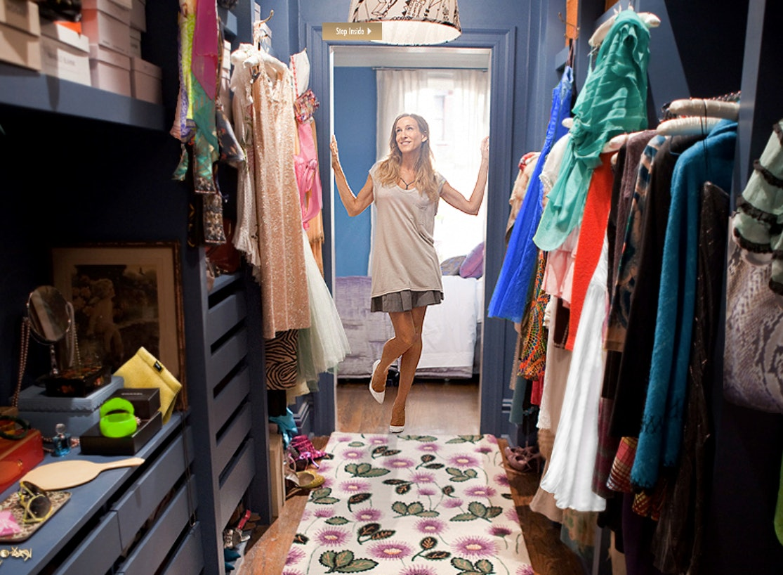 Image result for sex and the city carrie closet bedroom