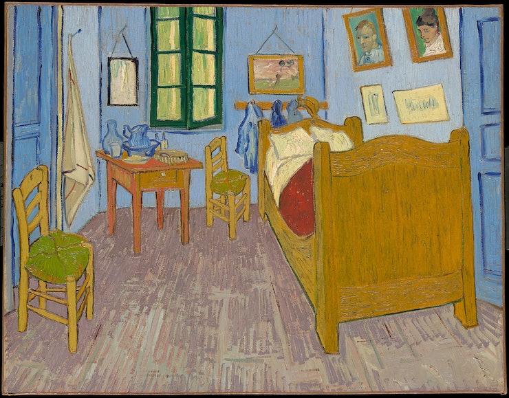 vincent van gogh airbnb brings the painting 'bedroom in arles' to