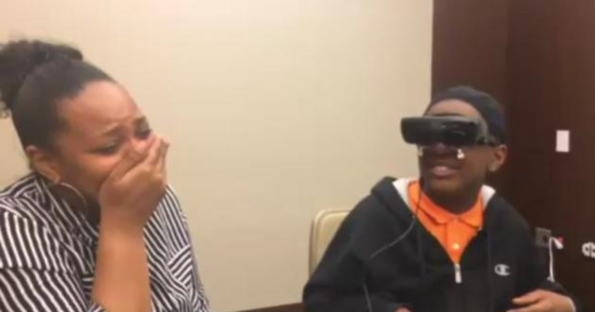 Blind 12 Year Old Boy Saw His Mother For The First Time