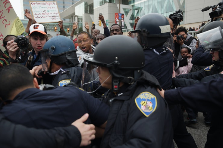 Photos Of Baltimore After Freddie Gray 39 S Funeral Show A