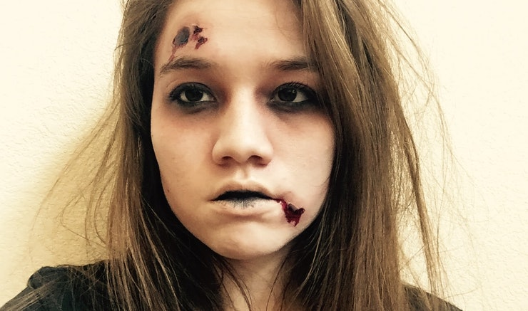 Easy Wounded Zombie Halloween Makeup You Can Do With Products You ...