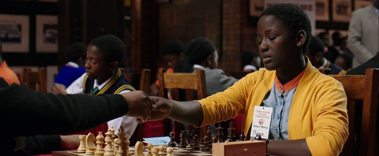 Image result for queen of katwe school chess scene