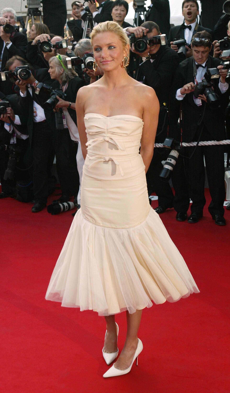 Cameron diaz red carpet dresses