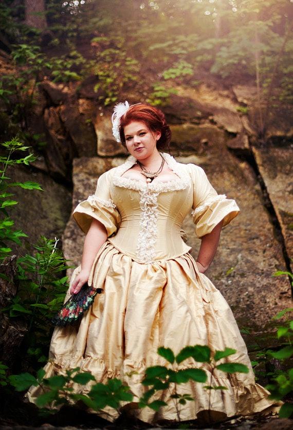 Corset high low plus size wedding dresses