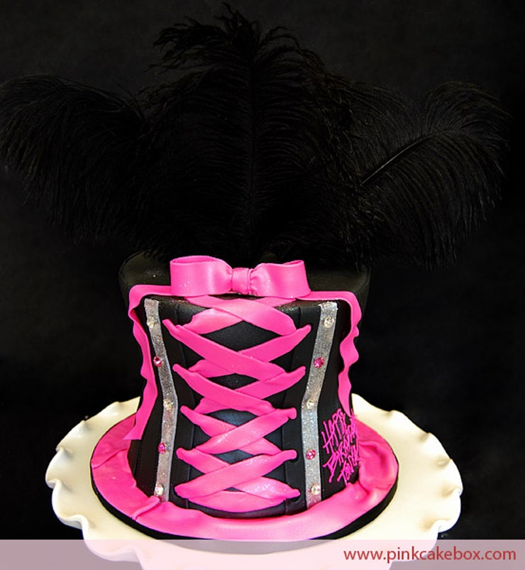 Nothing Says Happy Bachelorette Party More Than A Personalized Cake This Pink Corset Will Remind You Of The Passion Filled Side That Should