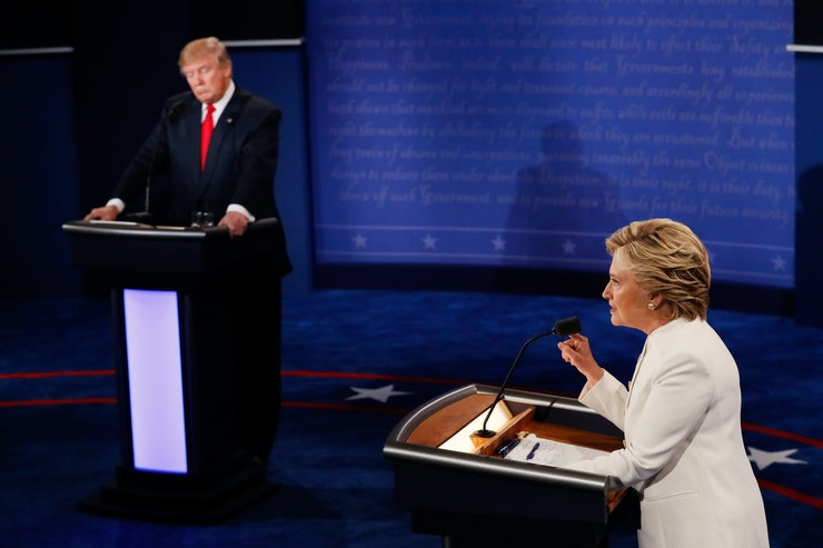 a discussion on abortion Trump and clinton on the debate stage in las vegas, october 19, 2016 (photo: mark ralston/pool/reuters) yes, hillary clinton is a late-term-abortion radical hillary clinton and donald trump clashed wednesday night about partial-birth and late-term abortion judging by the media coverage of that.