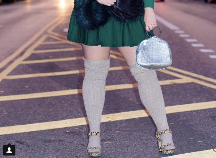 where to buy plus size knee high socks & stockings to channel your