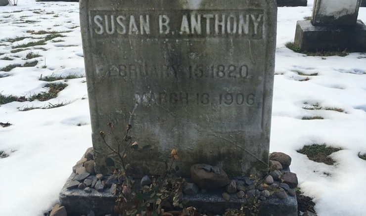Steady crowd marks Election Day at Susan B. Anthony's grave