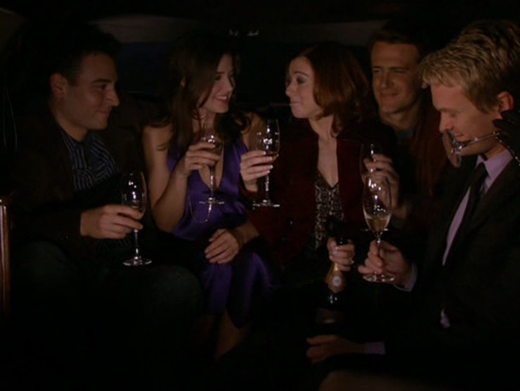9 things how i met your mother got right about new year s eve in the limo
