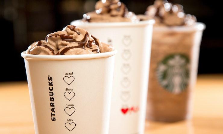 Valentines Day Molten Lava Cake Frappuccino