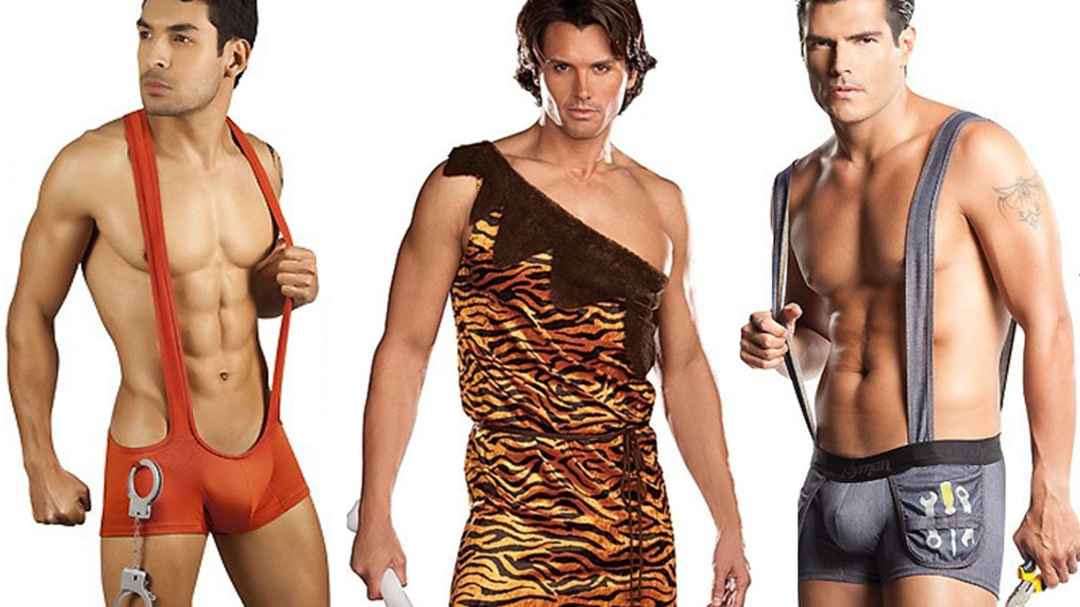 Sexy men in halloween costumes