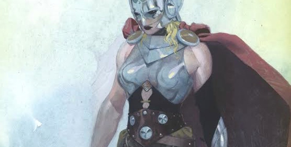 marvel s female thor looks exactly like the male thor that s