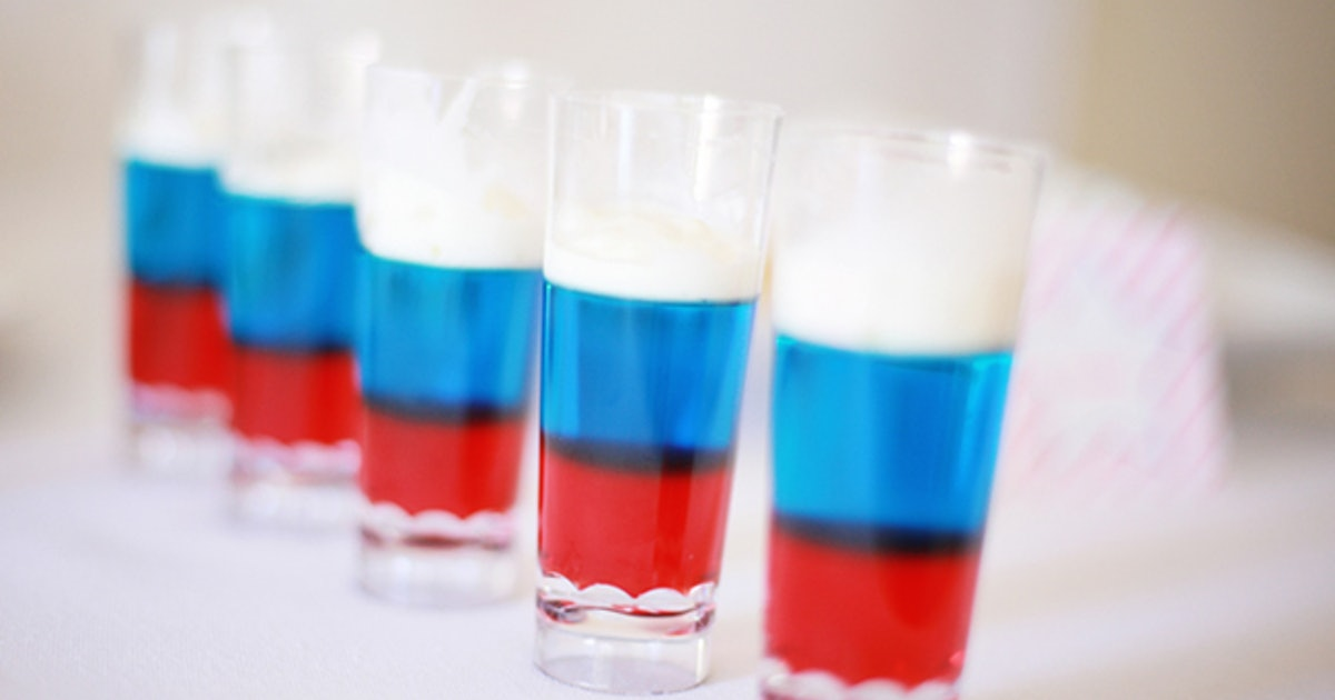 how to make red white and blue jello shots just in time for your fourth of july celebration. Black Bedroom Furniture Sets. Home Design Ideas