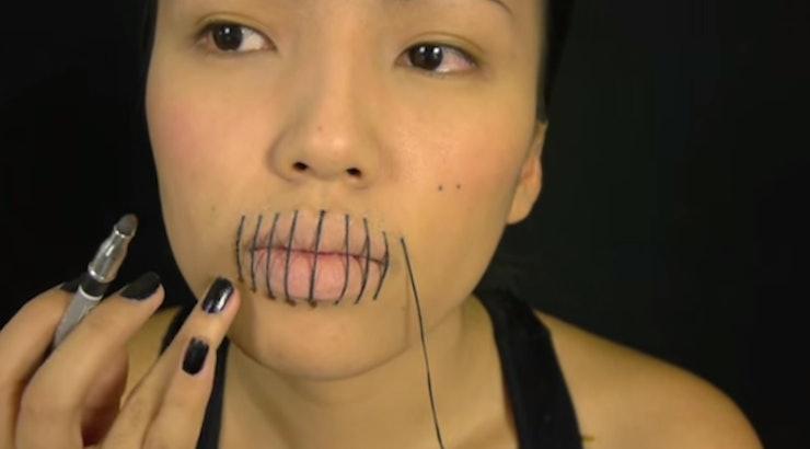 Halloween Makeup Quick Stitched Lips Tutorials Thatu0026#39;ll Spook Everyone Out U2014 VIDEOS