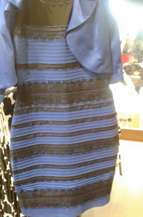 Black and blue or white and gold dress images