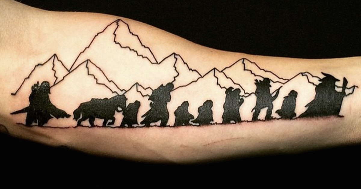 9 timeless 39 lord of the rings 39 tattoos so your love for for Lord of the rings tattoo