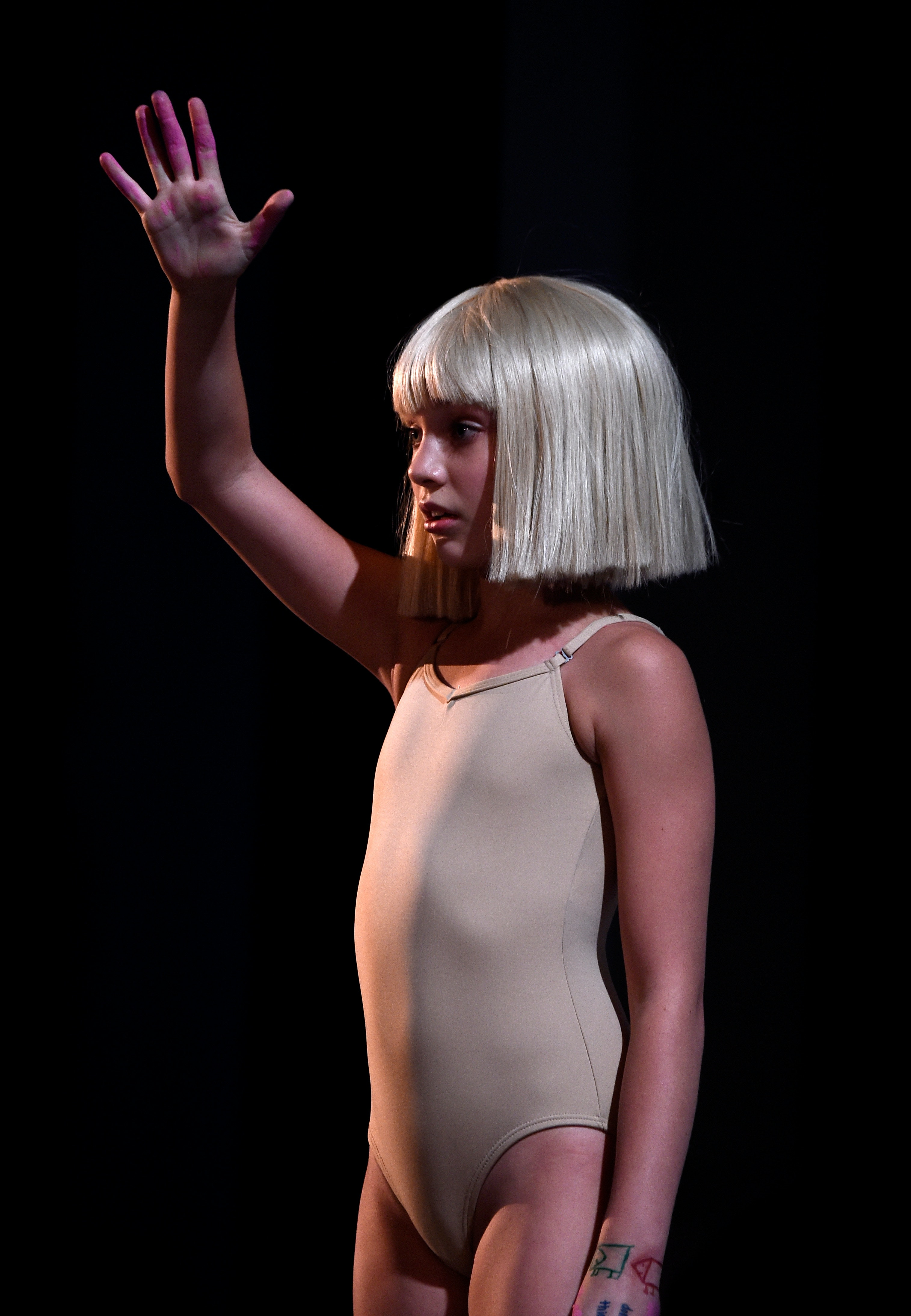 ziegler nude leotard This Sia 'Chandelier' Halloween Costume Is Super Easy To Pull Off — PHOTOS