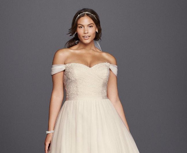 Wedding dress for plus size body