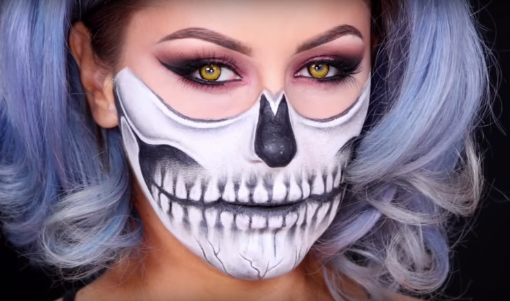 10 halloween costumes that use makeup only because finding a full look is rough videos. Black Bedroom Furniture Sets. Home Design Ideas