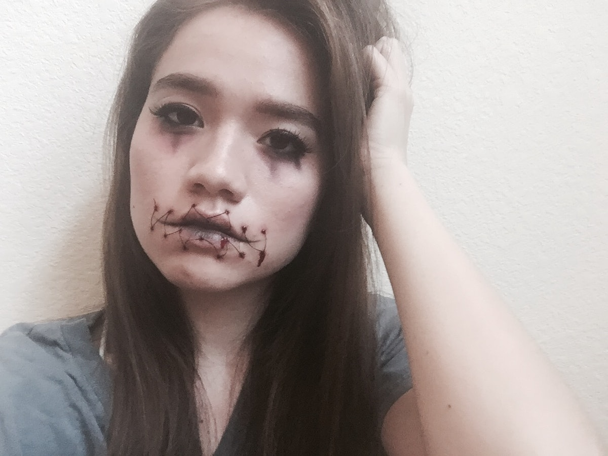 Easy Stitched Mouth Halloween Makeup You Can Do With Products You Already Own U2014 PHOTOS