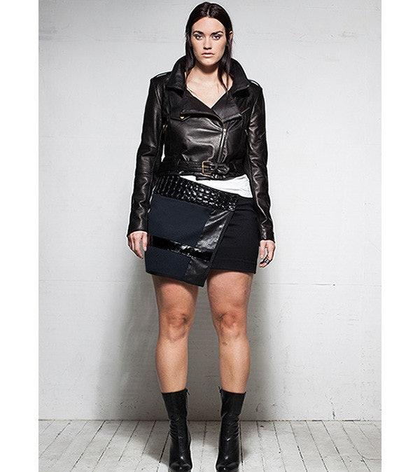 jackie o dress plus size leather