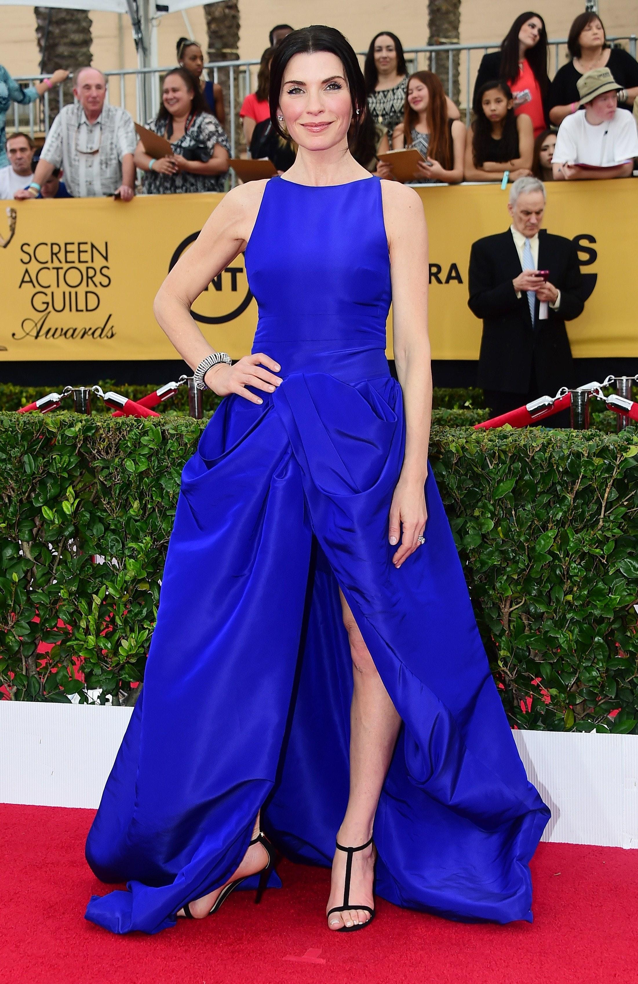 Blue dress red carpet 94