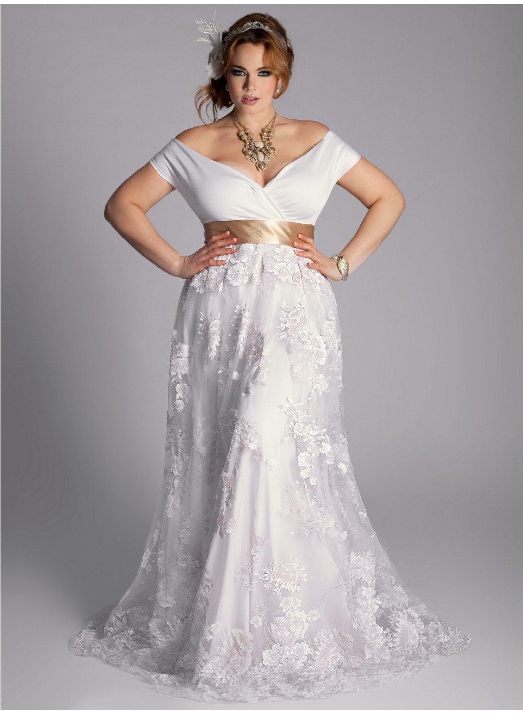 Plus size vintage looking wedding dresses