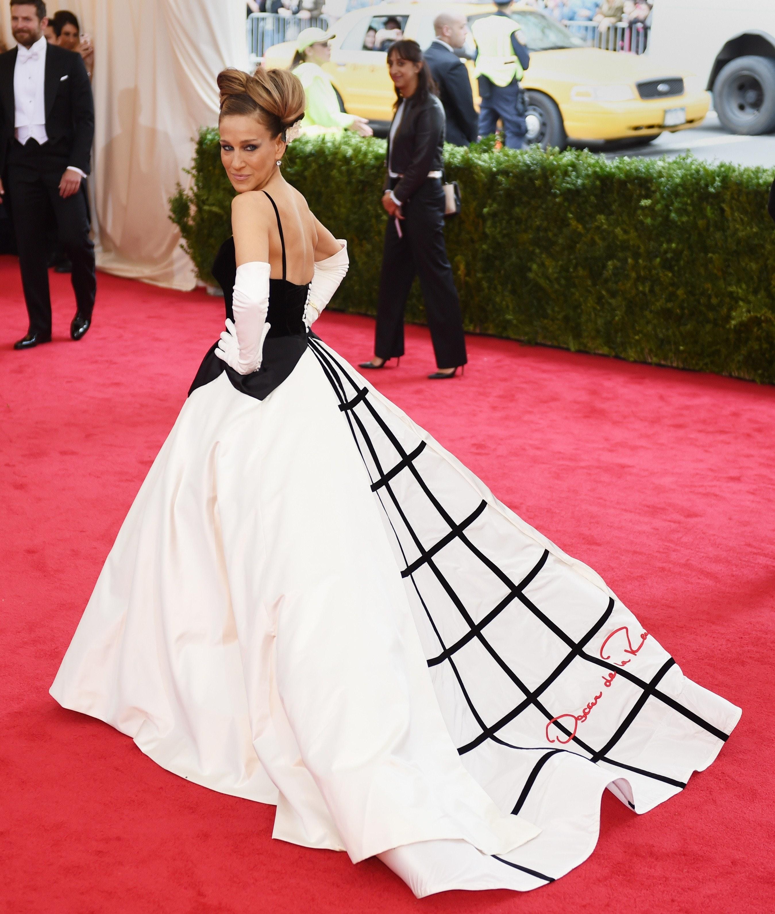Jessica white red carpet dress