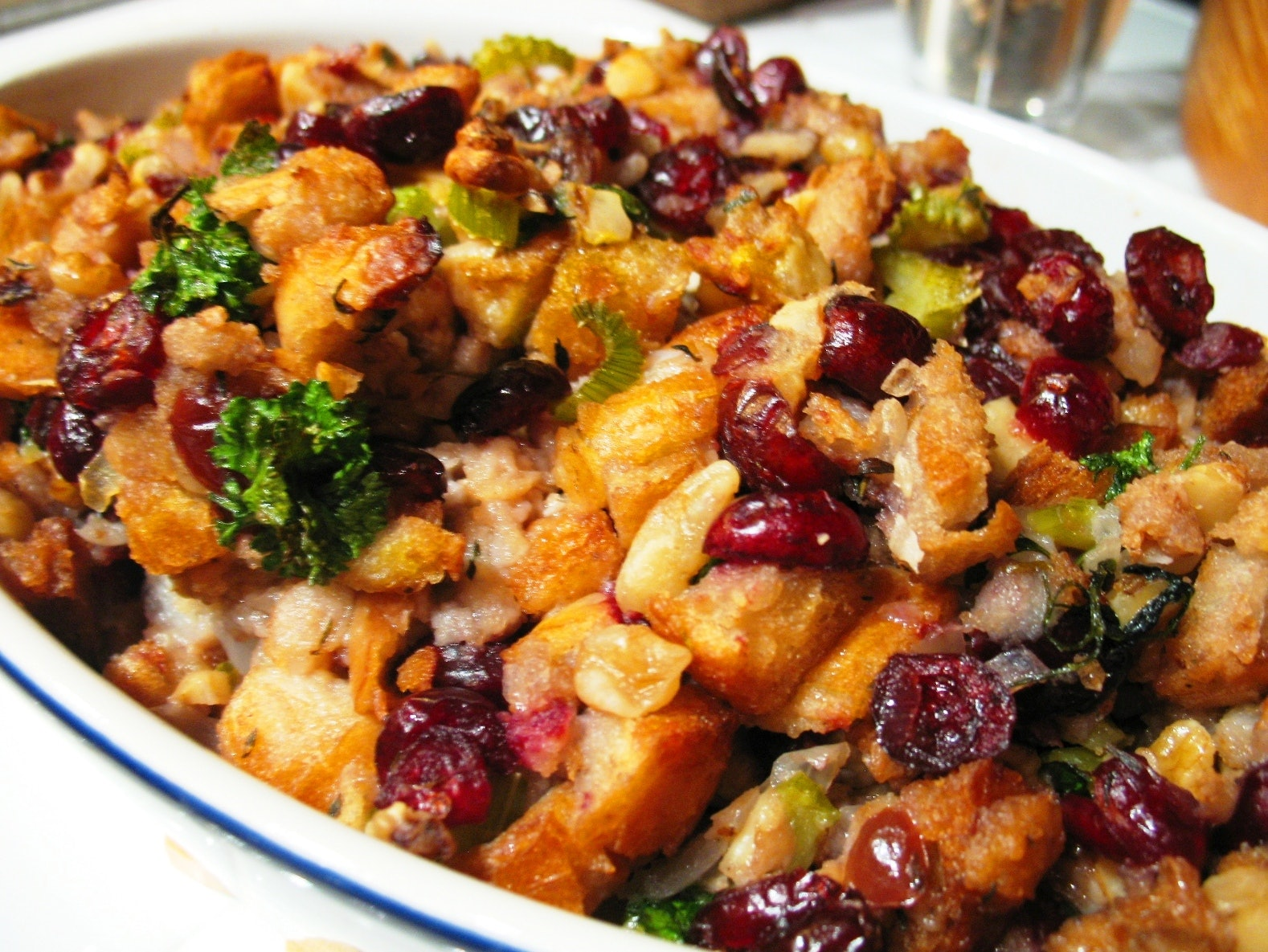 stuffing thanksgiving bread recipes fashioned recipe cranberry easy vegan sausage walnut dressing holiday table spice turkey yummi scrumptious words favorite