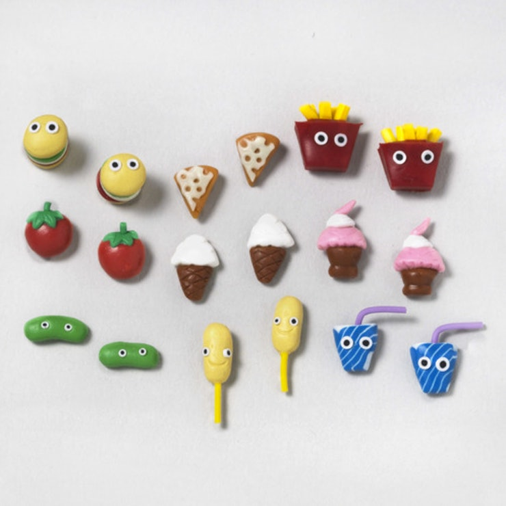 Earrings food from claires
