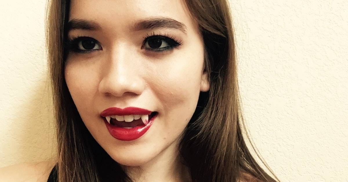 Secure Denture Adhesive >> How To Make Vampire Fangs Out Of Press-On Nails — PHOTOS