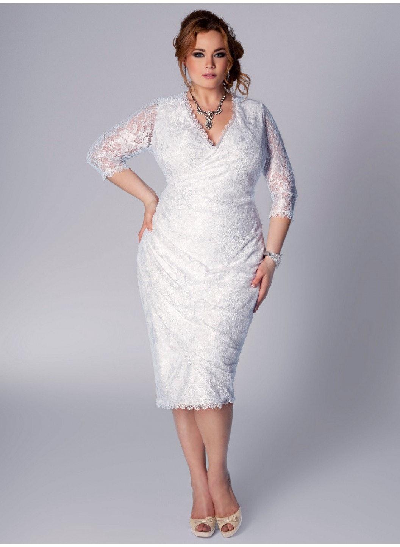 Plus size older bride dresses