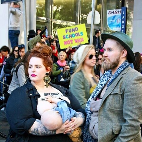 Image result for tess holliday breastfeeding