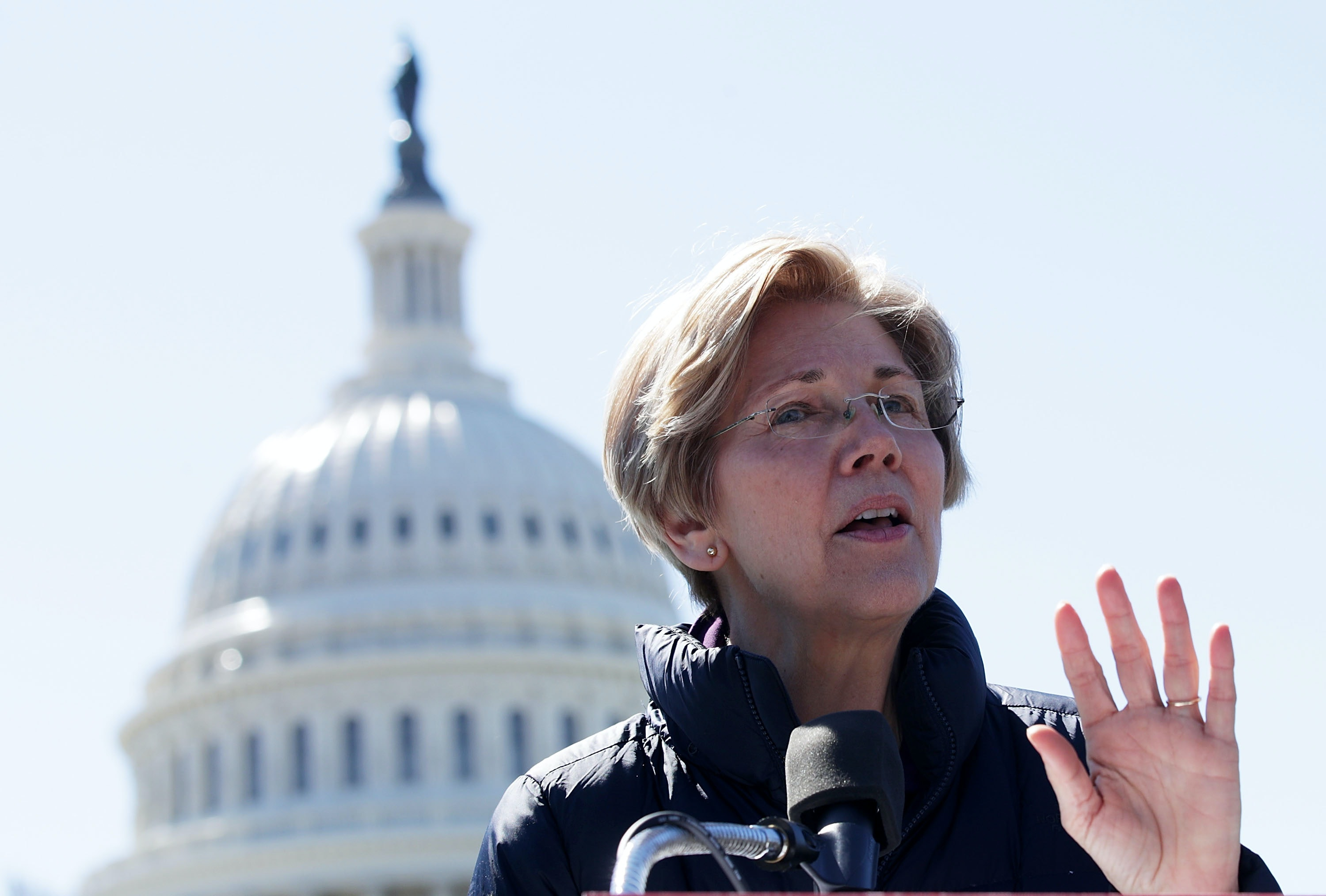 "Trump Calls Elizabeth Warren ""Pocahontas"" In A Room Full Of Native American Veterans Alex Wong  Getty Images News  Getty Images"