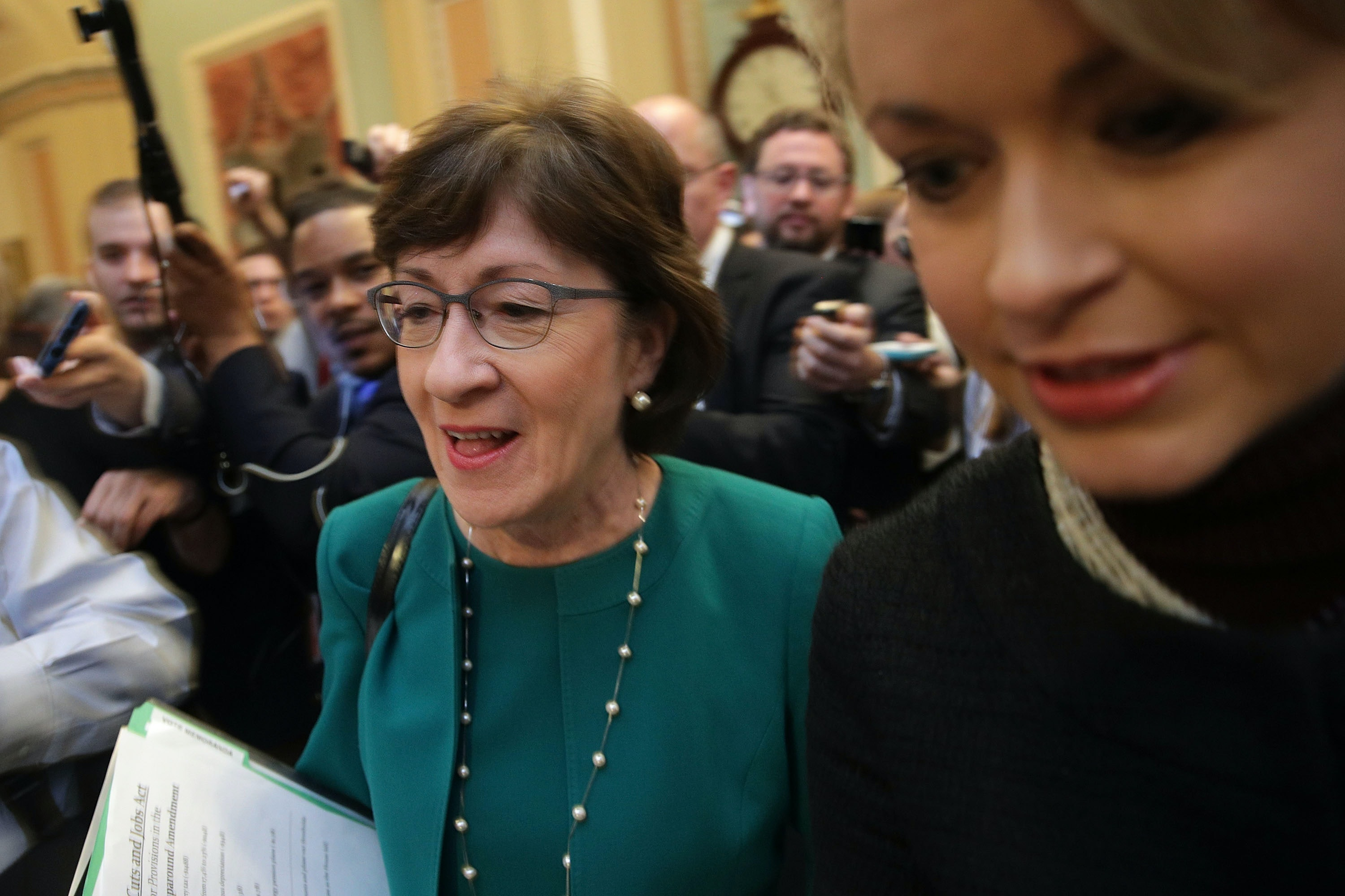 Collins blasts 'unbelievably sexist' news coverage of her tax bill support