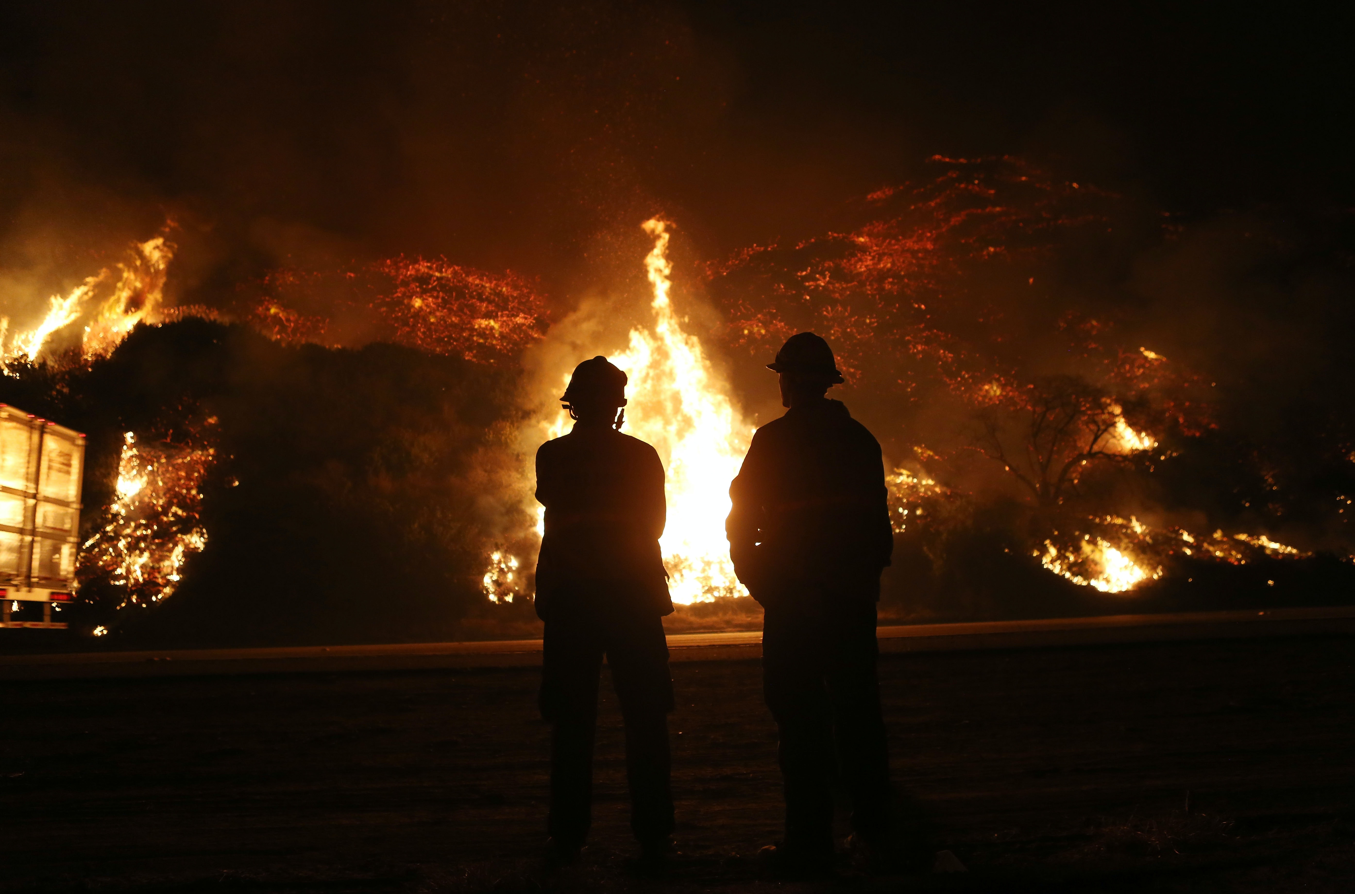 Relentless Santa Ana winds continue to fan devastating California wildfires