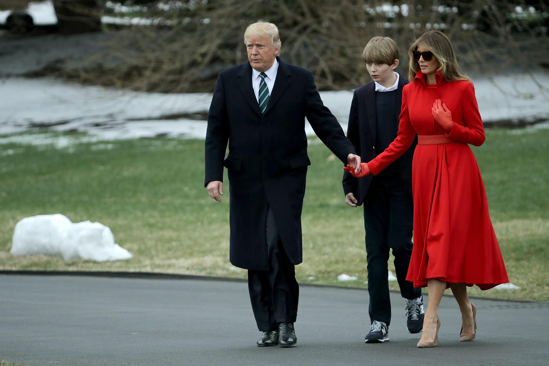 See Fake 'Melania Trump' Talk White House Move on 'Colbert'