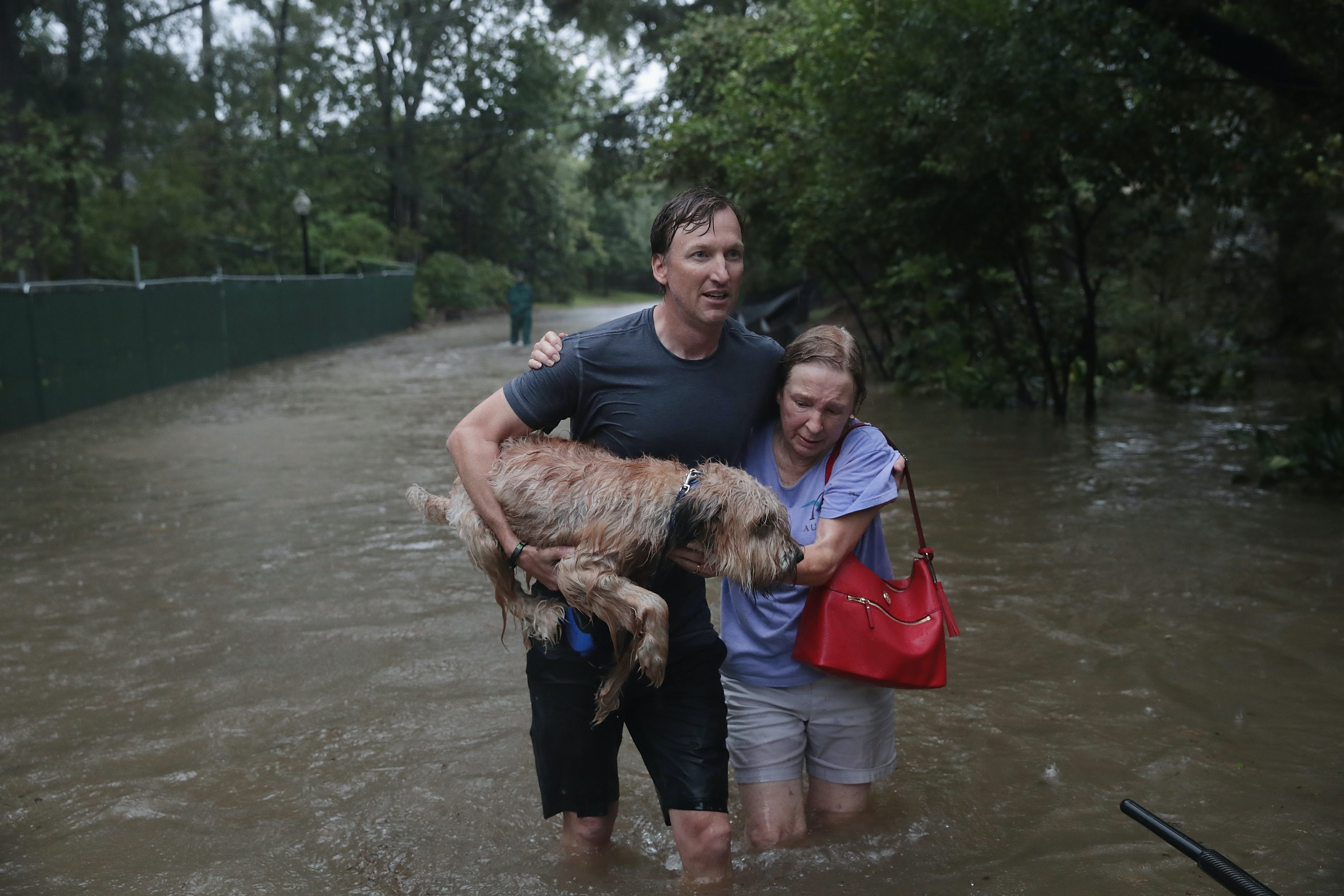 Hurricane Katrina survivor flees floodwaters again, this time in Texas