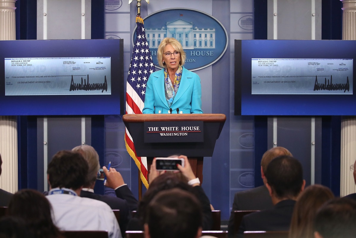 Betsy DeVos Has Officially Killed Obama's Sexual Assault Guidelines For College Campuses