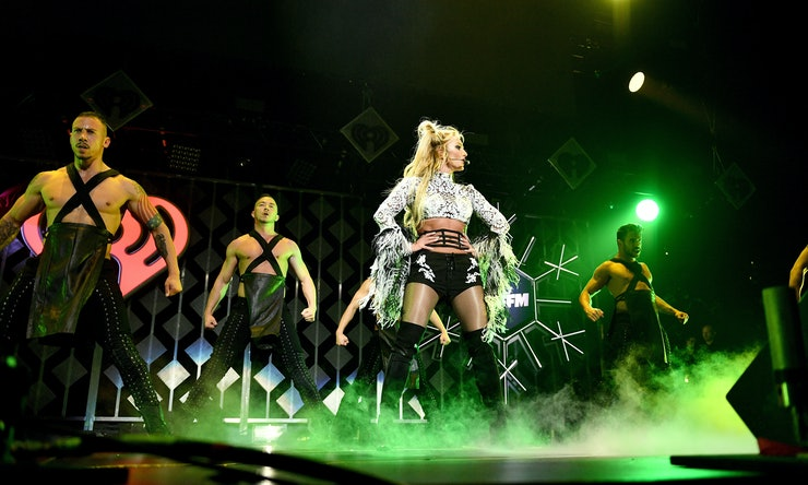 Pop queen Britney Spears during her New Year Eve performance