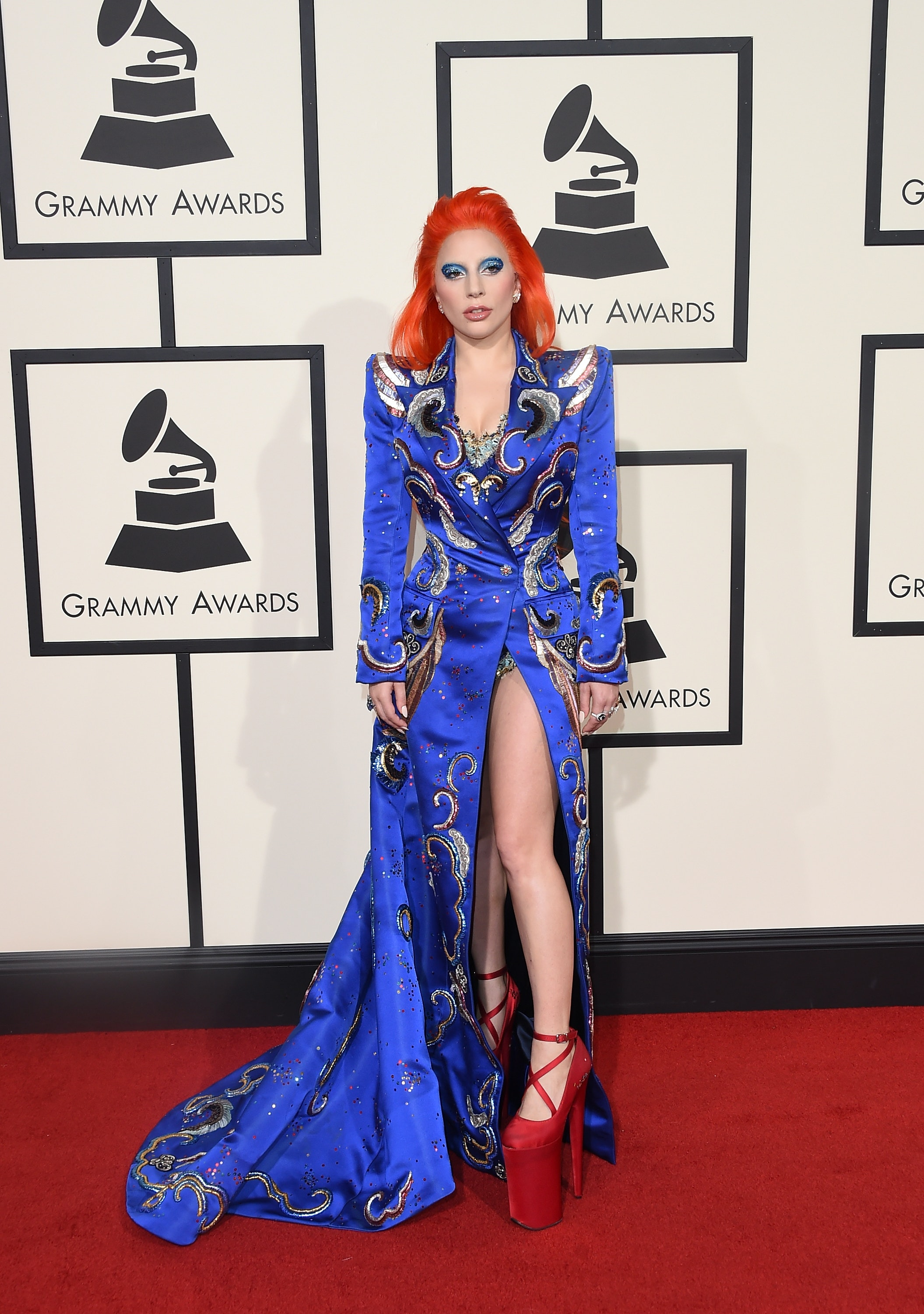 f2ec845f037c Lady Gaga s 2018 Grammys Look Brought Time s Up To The Music Industry