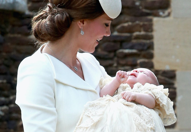 Kate Middleton with newborn Princess Charlotte
