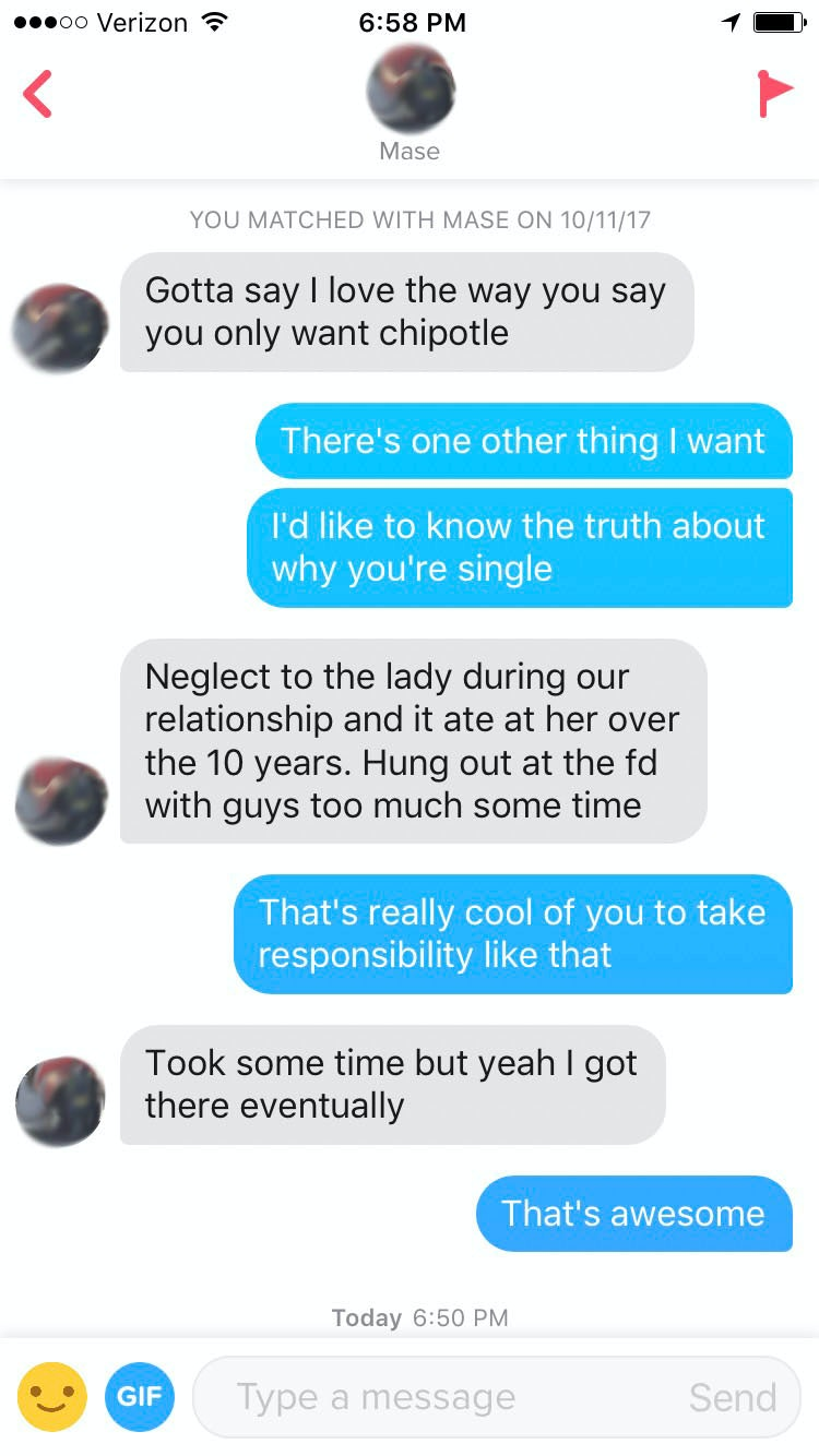 What to say to tinder match