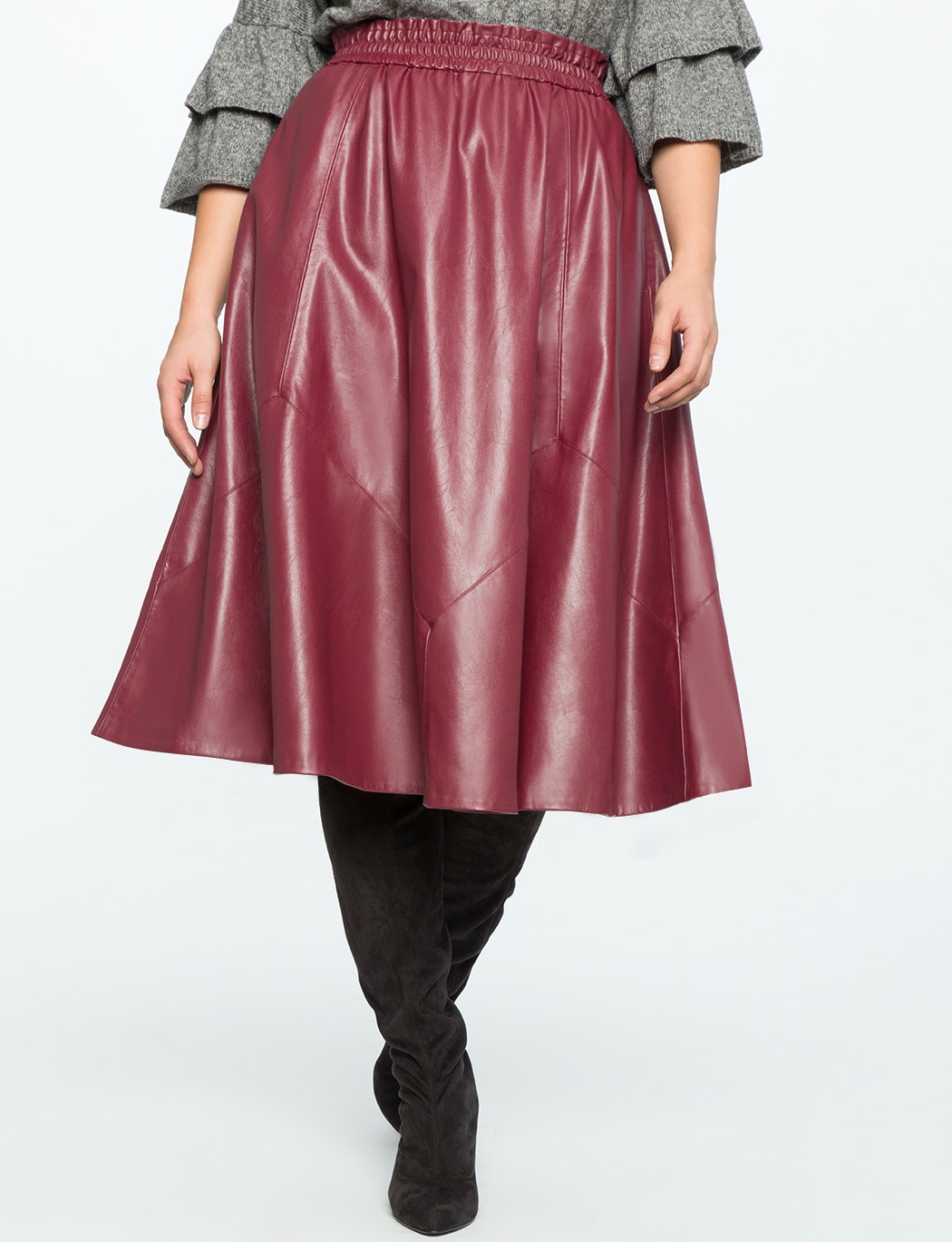 0f86ecbbfa 15 Plus Size Midi Skirts You Need In Your Fall Wardrobe Stat