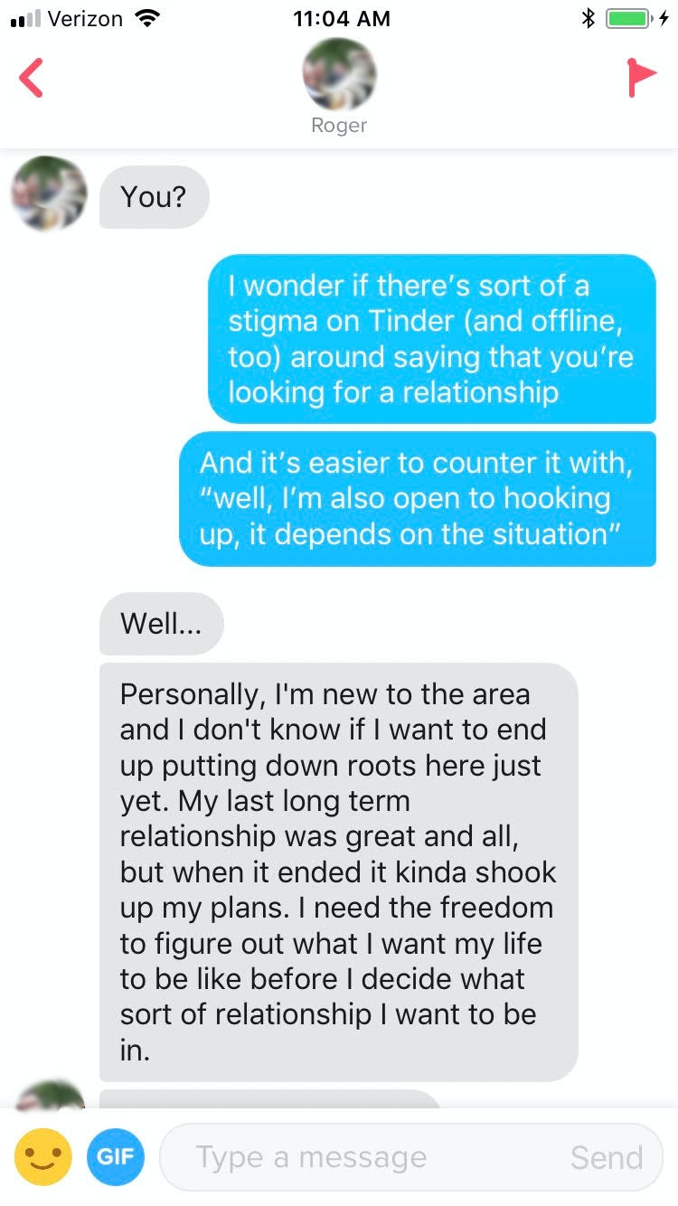 What to write on hookup message