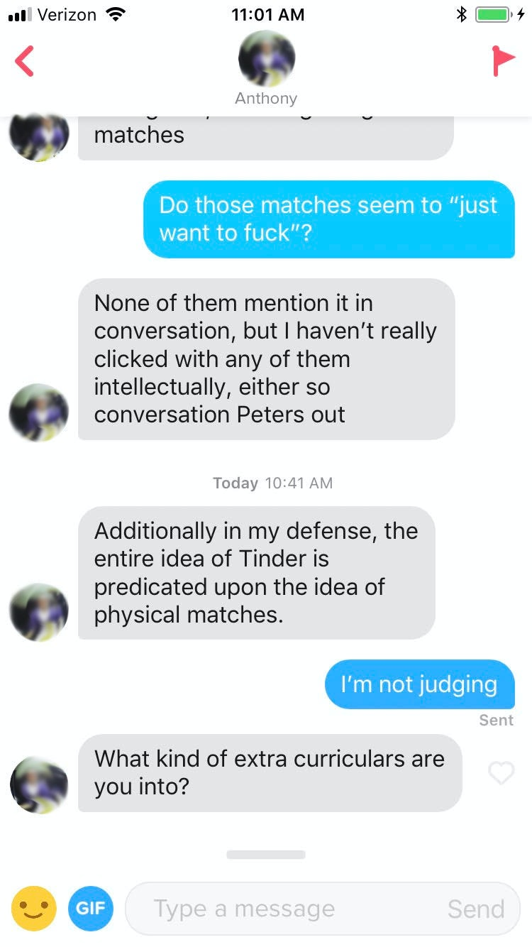 Tinder is for sex