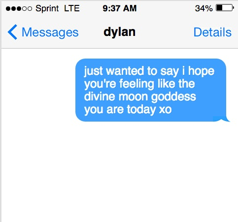feeling text messages