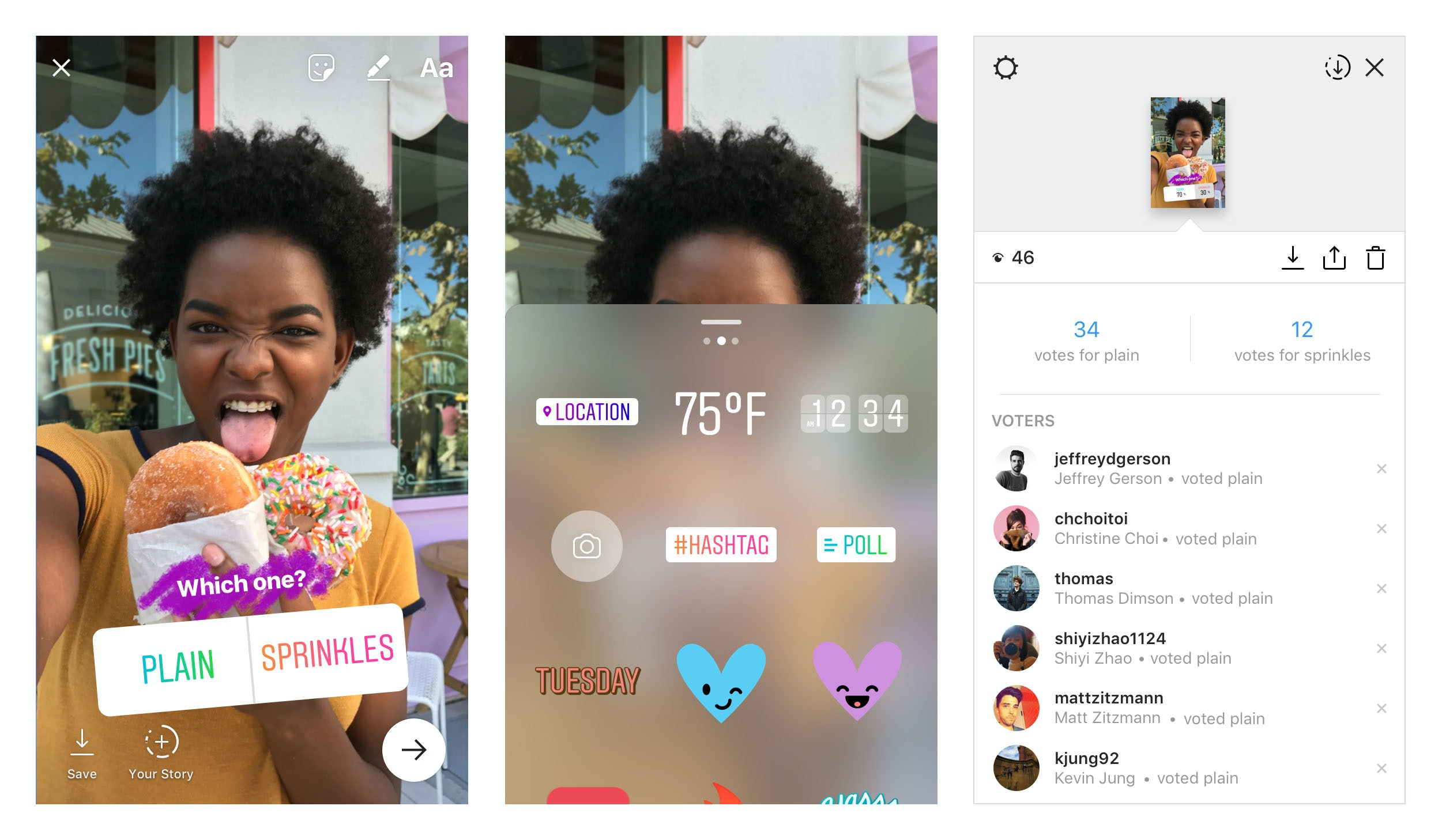 Instagram Stories mimics Polly with new polls
